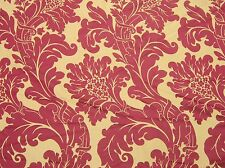 Quality silky woven fabric claret and gold 120 by 48 inches