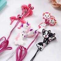 Cartoon Unicorn In-ear 3.5mm Headset Silicone Earphone Headphone Earbuds Gifts