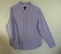 American Eagle Mens Long Sleeve Casual Oxford Dress Shirt Athletic Fit Size XL