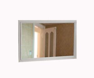 "44.7x27"" Rectangular Wall Mirror, 47.2 x 29.5"" Overall Size, White 16689-MIRROR"