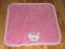 BABYGEAR BABY GEAR PINK BLACK WHITE KITTY CAT KITTEN LEOPARD SPOT BLANKET PLUSH