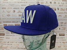 G-STAR RAW Flat Brim cap obaruh Snapback B. Blue Hat Baseball Style O/S Caps BNWT