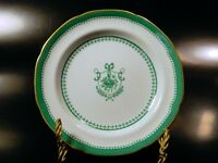 Spode NEWBURYPORT GREEN Gold No Verge BREAD & BUTTER Plate(s) 1962-71 Excellent