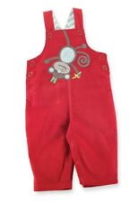 Mud Pie Baby Infant Boys Safari Collection 2T Monkey Overalls Set Outfit Red New