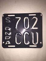 Original Santa Fe Argentina Motorcycle License Plate Argentine -USED- #F-42