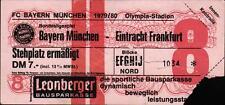 Ticket BL 79/80 FC Bayern München - Eintracht Frankfurt