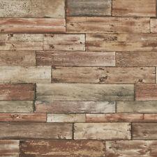 Shabby sheek clôture panneau en bois brun 7319-11