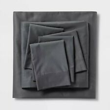 800 Thread Count Solid Sheet Set Queen Gray - Threshold Signature