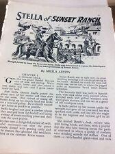 B6a Ephemera 1950s Article Stella Of Sunset Ranch Sheila Austin