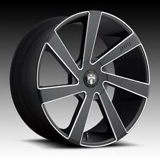 "24"" Dub Wheels Directa Black Rims Escalade Yukon Silverado Sierra Tahoe GMC 22"