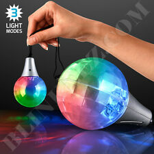 Flashing LED Light Show Pendant Prism Light Up Necklace Party Raving Fun Lights!