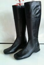 New long  black leather boots size 36