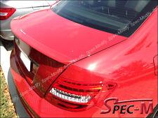2008+ MB W204 C200 C250 C300 C350 4Dr Painted 590 Red AMG Type Trunk Lip Spoiler