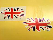 "Union Jack Bandera Splat Reino Unido Gb van parachoques Casco Stickers Calcomanías 4 ""o 100mm"
