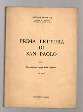 prima lettura di san paolo - volume I - silverio zedda S.J.