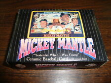 Mickey Mantle Ceramic Baseball Card---Sports Impressions---With Box---1996