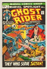 Marvel Spotlight on Ghost Rider #7 - ''They Who Serve Satan'' - 1972 (F+) Wh