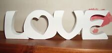 LOVE plaque free standing/Large wooden letters/home/romantic/modern/gift(UV)