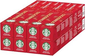 Starbucks Holiday Blend by Nespresso Coffee Pods 8 x 10 (80 Capsules)