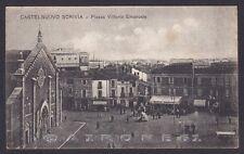 ALESSANDRIA CASTELNUOVO SCRIVIA 06 CAFFÈ UMBERTO Cartolina viagg 1925 SCIUPATA !