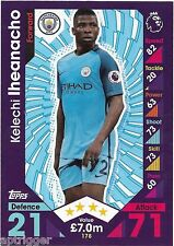 2016 / 2017 EPL Match Attax Base Card (178) Kelechi IHEANACHO Manchester City