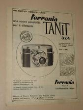 FERRANIA TANIT=ANNI '50=PUBBLICITA=ADVERTISING=WERBUNG=385