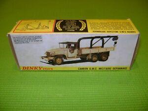 DINKY TOYS 808 CAMION GMC MILITAIRE DEPANNAGE BOITE VIDE D'ORIGINE