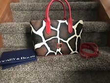 Dooney And Bourke Serengetti Brielle Giraffe With Red NWT