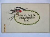 Deutsche Fahnen, Ein Deutscher, Prägedruck 1915 aus Bamberg (5630)