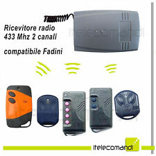 Ricevitore radio ricevente 2 canali compatibile Fadini 433 Mhz tutti i modelli