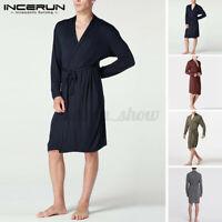 INCERUN Hommes Pyjamas Kimono Peignoir Robe de chambre Loungewear Pjs Nightwear