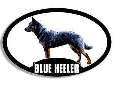 3x5 inch Oval Blue Heeler Sticker - aussie acd australian cattle dog silhouette