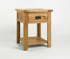 Oak Country Square Side & End Tables with Drawers