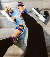 J.V - Cape Robbin Ankle Strap Buckle Open Toe Platform Fashion Sneaker Sandals