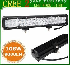 "17inch108W LED LIGHT BAR COMBO Offroad Frod RZR LAMP SUV ATV UTE Cars Boat 18"""