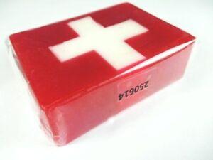 Soap Flag of Switzerland Soap Swisse Flag, 190 Size Travel Souvenir, New