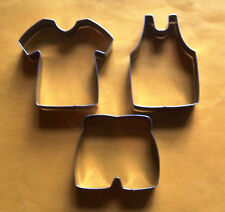 Sport wear jersey pants t-shirt vest baking pastry cookie cutter metal 3pcs/set