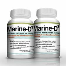 Marine-D3 | Anti Aging | Marine Essentials | Seanol-P | Omega-3 | Softgels x2