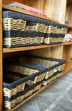 4-Pack Modern Wicker Baskets by Handcrafted 4 Home