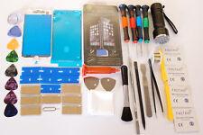 Pantalla de Cristal iPhone 7 Blanco de Repuesto Kit, Marco equipada, 21 LED Linterna UV, Calidad