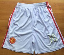 Manchester United Mens White Footy Shorts - Size XXL