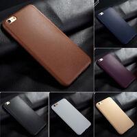 Ultrathin TPU Leather Grain Soft Phone Case Cover Skin For iPhone 5 6 6s Plus CA