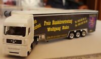 DICKIE TOYS TRUCK CAMION SEMI TRAILER MAN PUBLICITY DIECAST ECHELLE 1:87 HO OVP