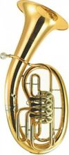 B&S 3046-l B-bariton Goldmessing Bohrung 15 00mm 4 Ventile Etui Zubehör
