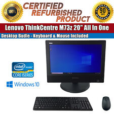 "Lenovo ThinkCentre M73z 20"" Intel i3 8GB RAM 500GB HDD Bundle W/ Keyboard+Mouse"