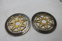 02 03 KAWASAKI NINJA ZX9R ZX 9R FRONT LEFT RIGHT BRAKE ROTORS DISCS