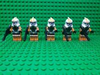 Custom Lego Star Wars Minifigures Orange Clone Trooper Army Lot of 5 + Blasters