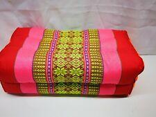 Cushion Pillow Thai Handicraft 100% Kapok, Cotton Pink Massage Yoga Bolster New