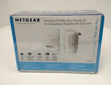 Netgear Powerline AV200 Ultra Adapter Ethernet Kit 200Mbps XAVB2001 New Sealed