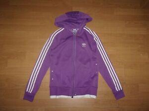 Adidas Originals Purple & White ladies hoodie size UK 12